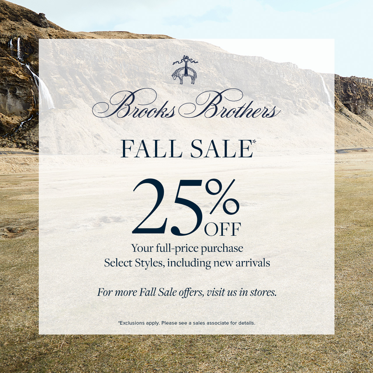 Fall Sale from Brooks Brothers