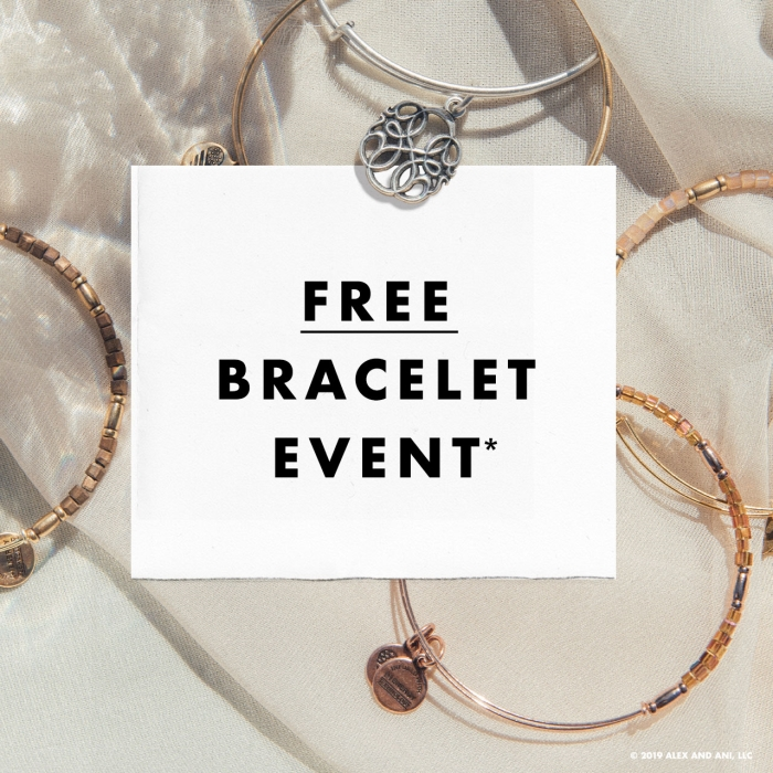 ALEX AND ANI Free Bracelet Event from ALEX AND ANI