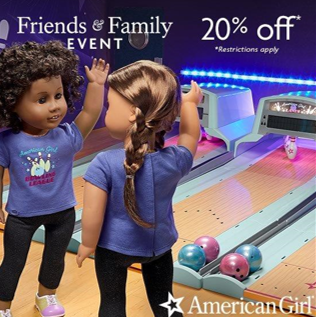 Friends & Family Event from American Girl