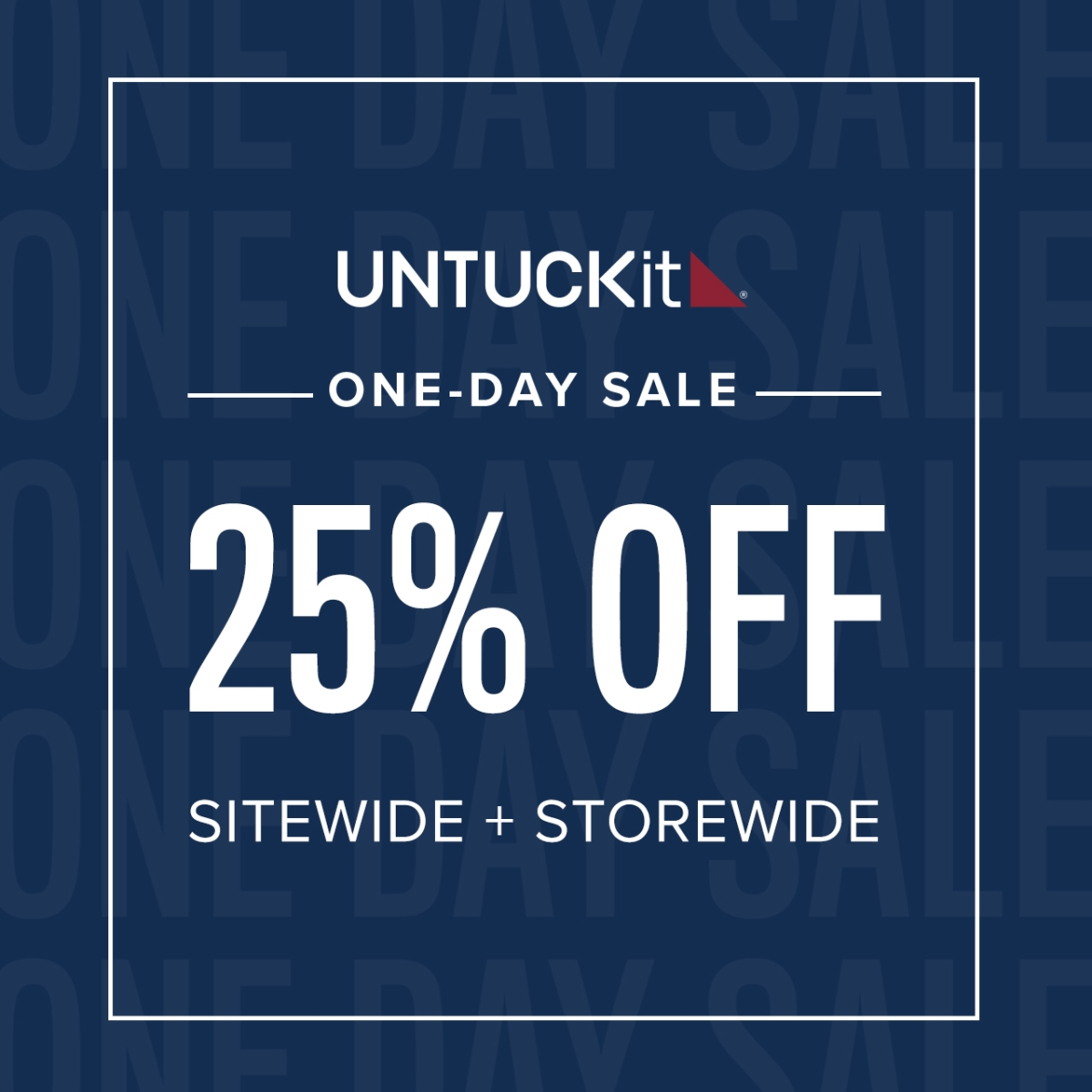 One-Day Sale 25% Off—Today Only! from UNTUCKit