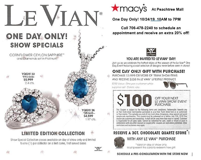 Macy's Le Vian One Day Sale