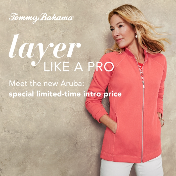 Your go-to just got better New Product from Tommy Bahama