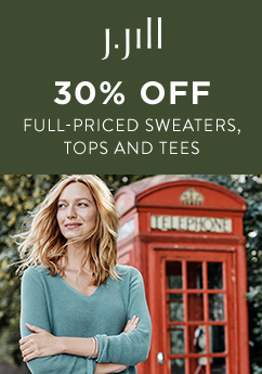 30%* Off Full Priced Sweaters, Tops, & Tees from J.Jill