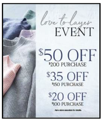 Love to Layer Event from Coldwater Creek