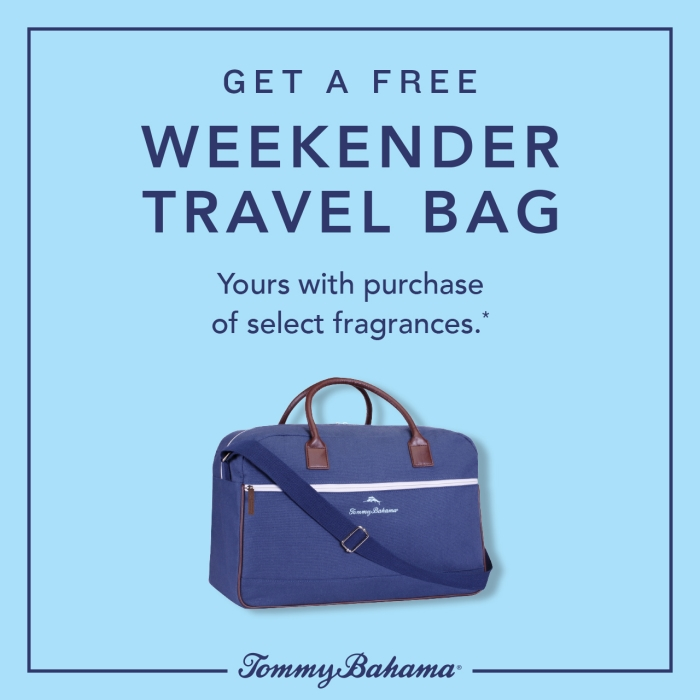 Get A Free Weekender Travel Bag* from Tommy Bahama
