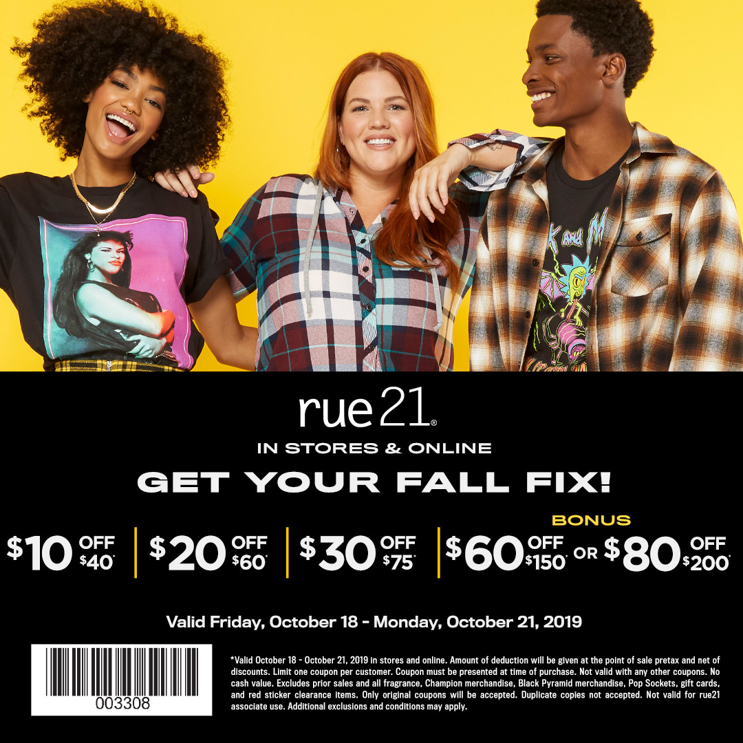 Don't Miss Fall Savings Happening Now at rue21 from rue21