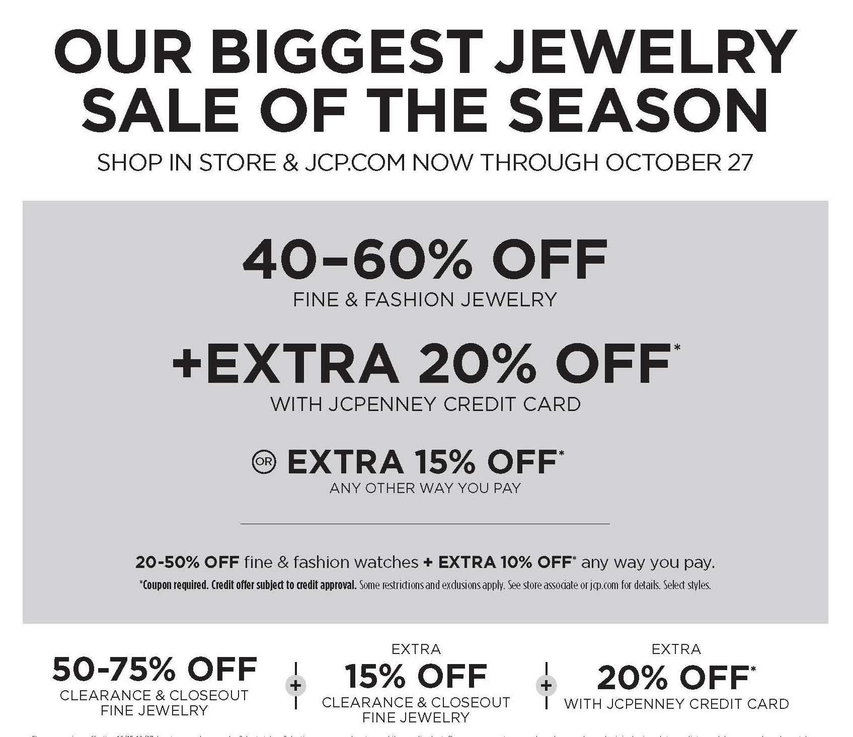 Our Biggest Jewelry Sale of the Season from JCPenney