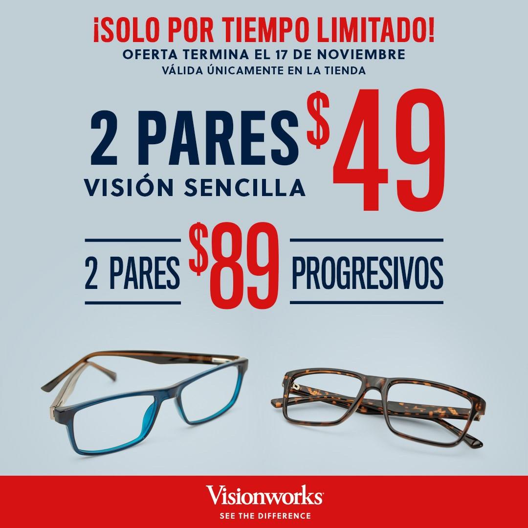 Visionworks Solo Por Tiempo Limitado!