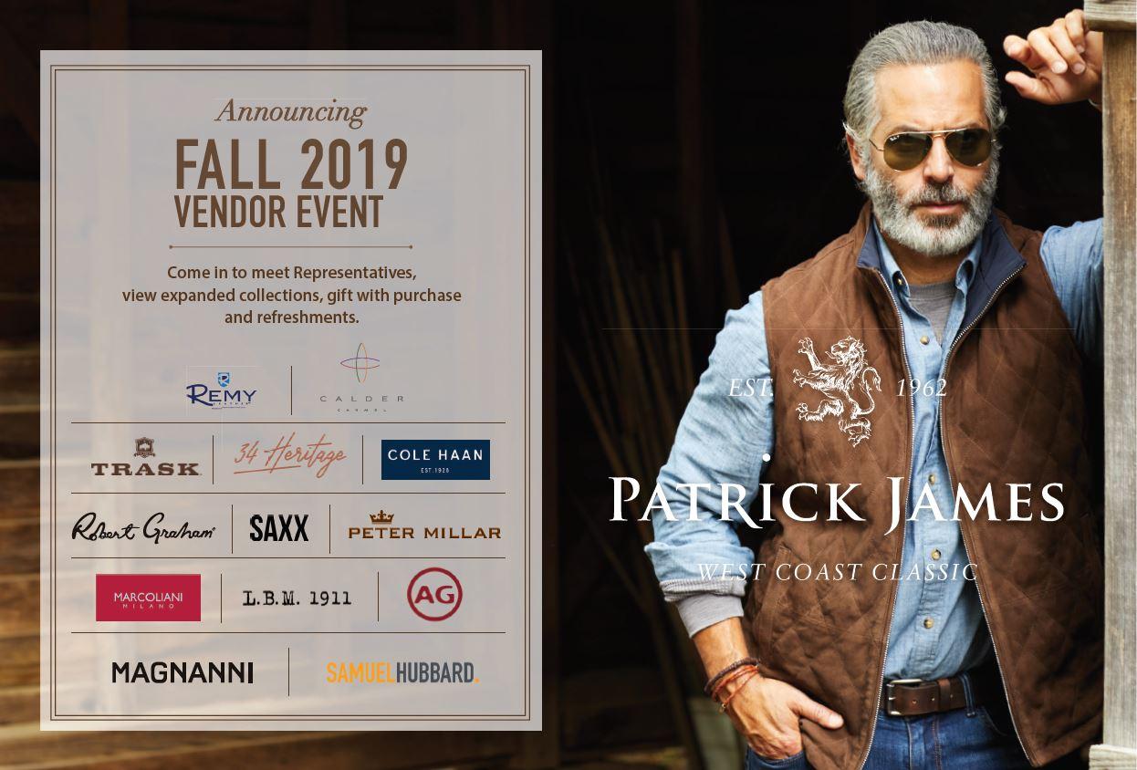 Patrick James- Fall 19 Vendor Event from Patrick James