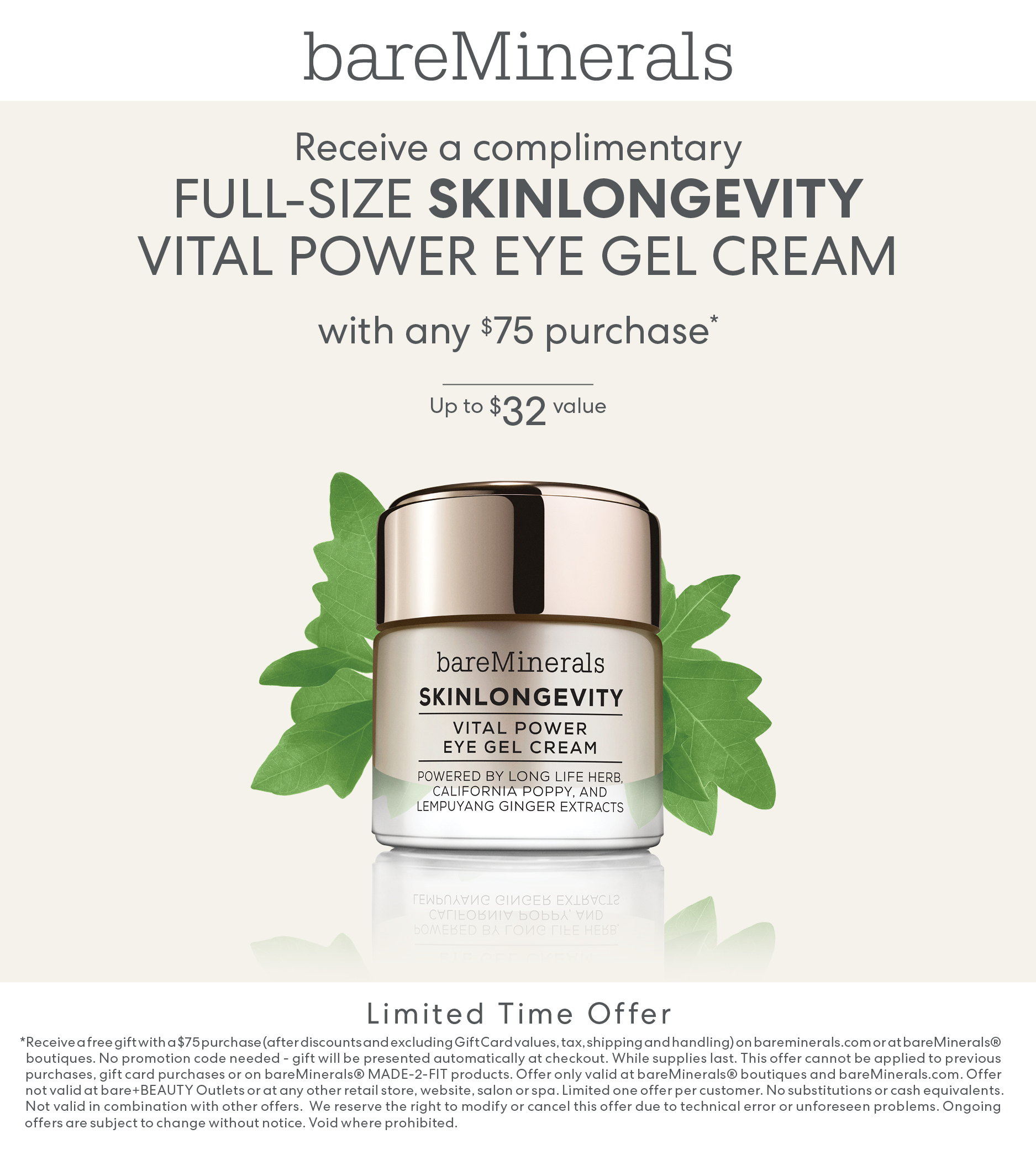 Gift with purchas from bareMinerals