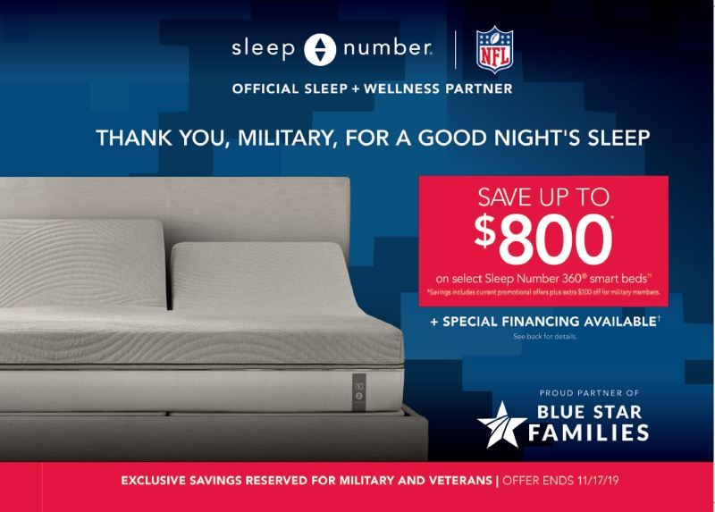 Military Appreciation Discount at Sleep Number from Sleep Number