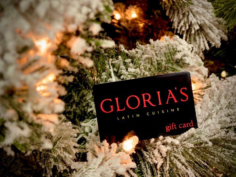 Holiday Gift Card Promotion from Gloria's Latin Cuisine