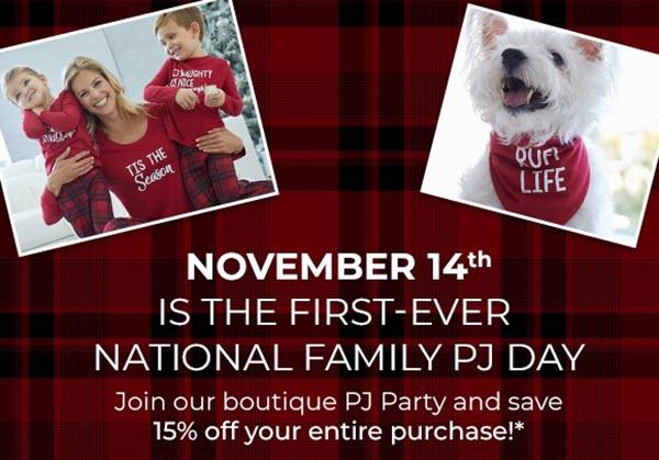 National Family PJ Day, Nov 14! from Soma Intimates