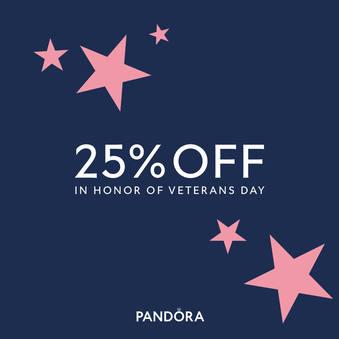 Veteran's Day Promotion from PANDORA