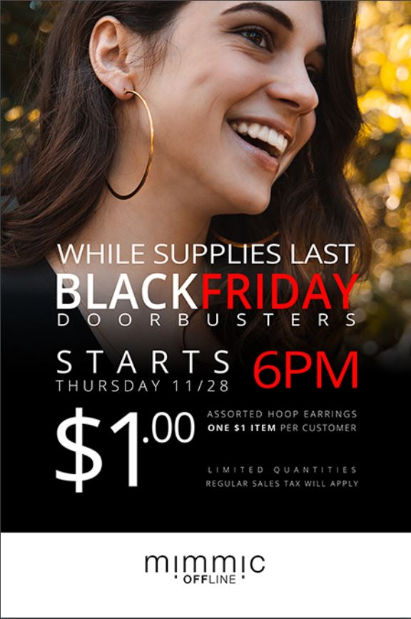 Black Friday Specials from Mimmic Fashion Jewelry
