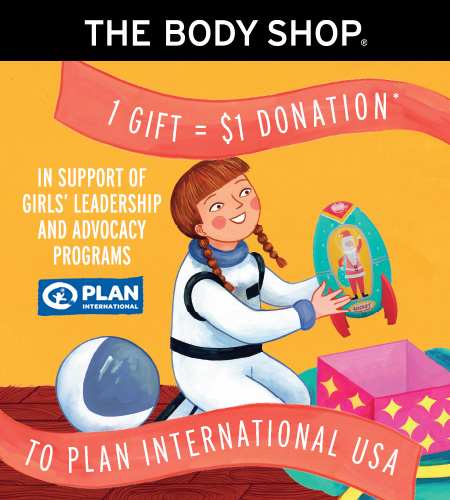1 GIFT = $1 DONATION from The Body Shop
