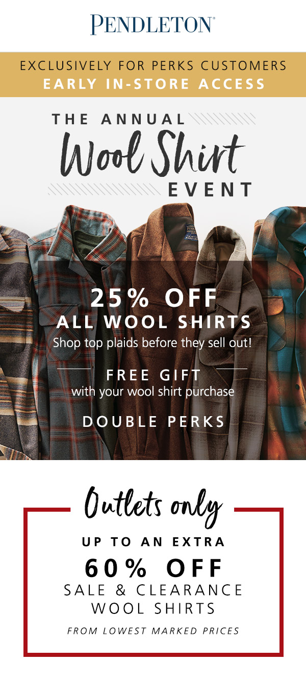Wool Shirt Event from PENDLETON