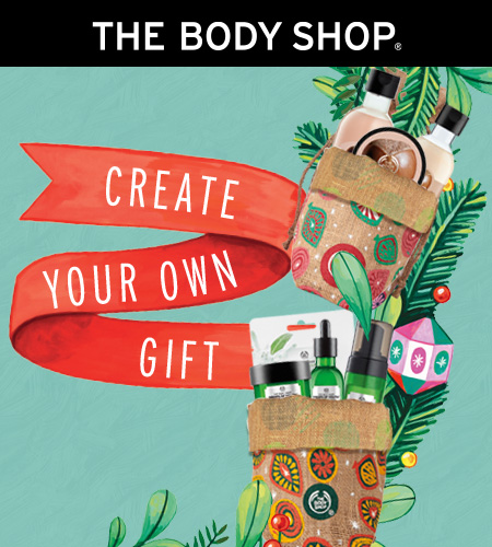 Create your own gift bags from The Body Shop