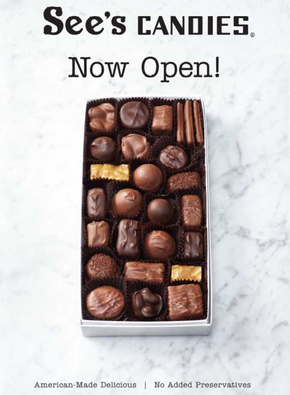 See's Candy is Now Open!
