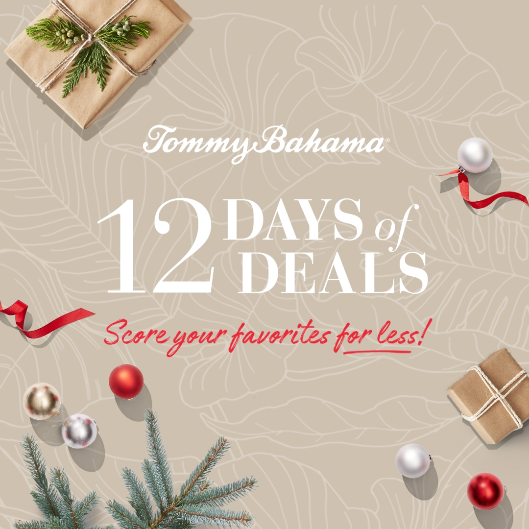 12 Days of Deals from Tommy Bahama