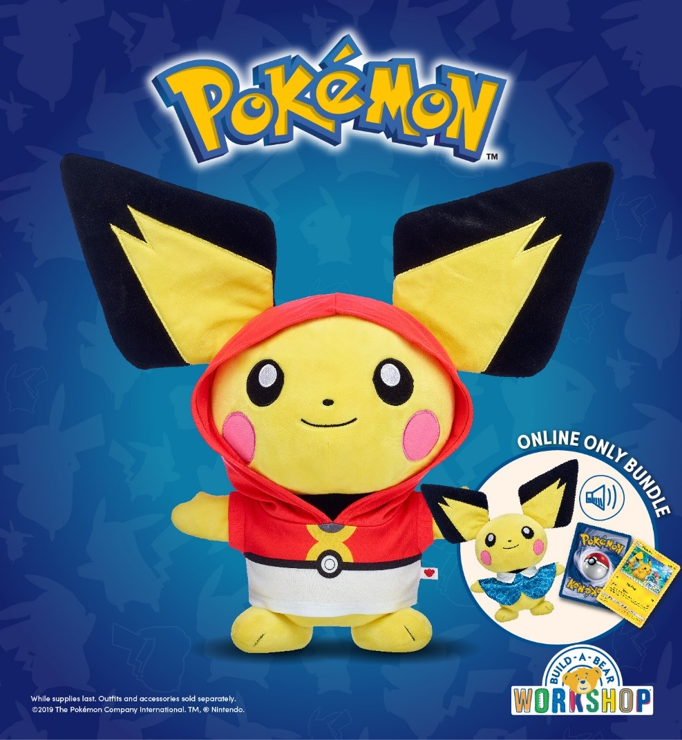 Pokémon Trainers! The Adorable Electric-Type Pichu Has Arrived at Build-A-Bear Workshop!® from Build-A-Bear Workshop