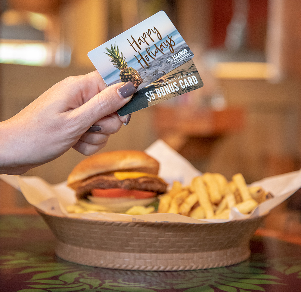 Bonus Gift Card from Islands Fine Burgers & Drinks