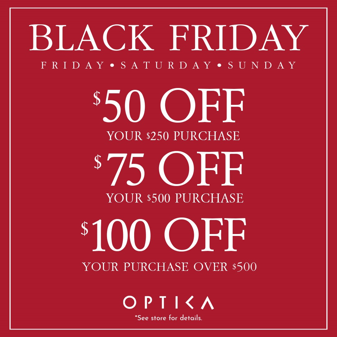 Black Friday Sale from Optica
