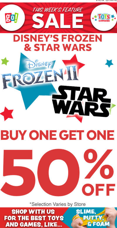 BOGO 50% Off Frozen & Starwars Titles from Go! Calendars