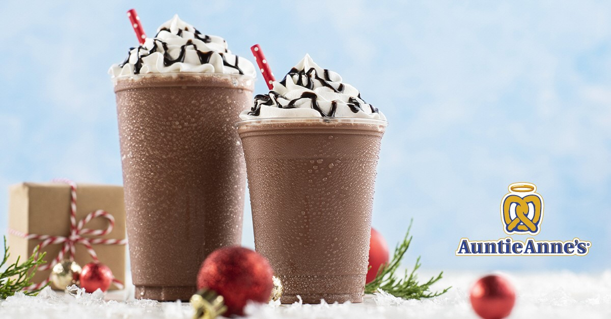 Auntie Anne's new Hot Chocolate Frost is here for the holidays! from Auntie Anne's