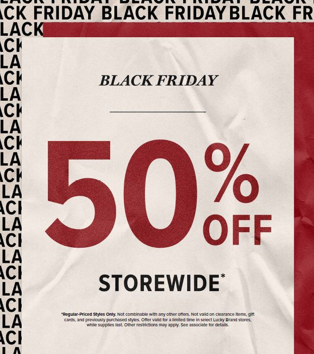 Black Friday Sale from Lucky Brand Jeans