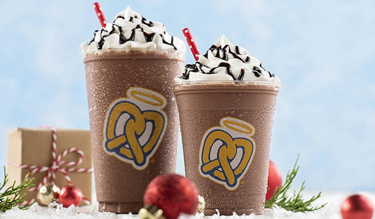 Hot Chocolate Frost is available! from Auntie Anne's