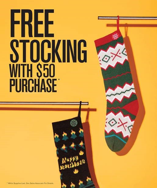 Free Stocking with Purchase from STANCE