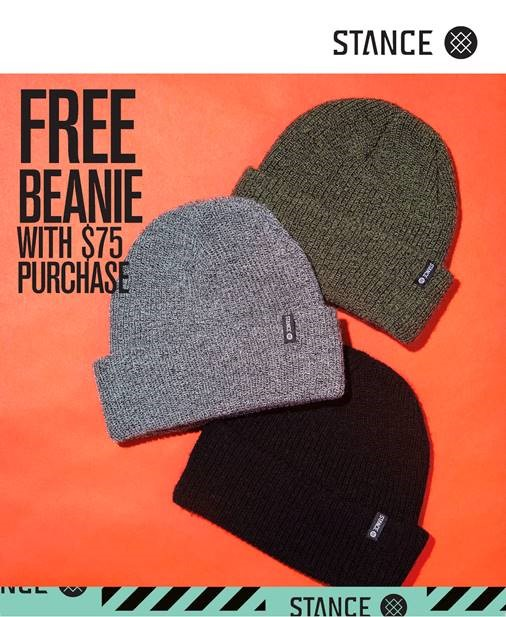 Free Beanie with Purchase from STANCE