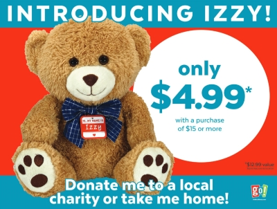 Get your IZZY - from Go! Calendars