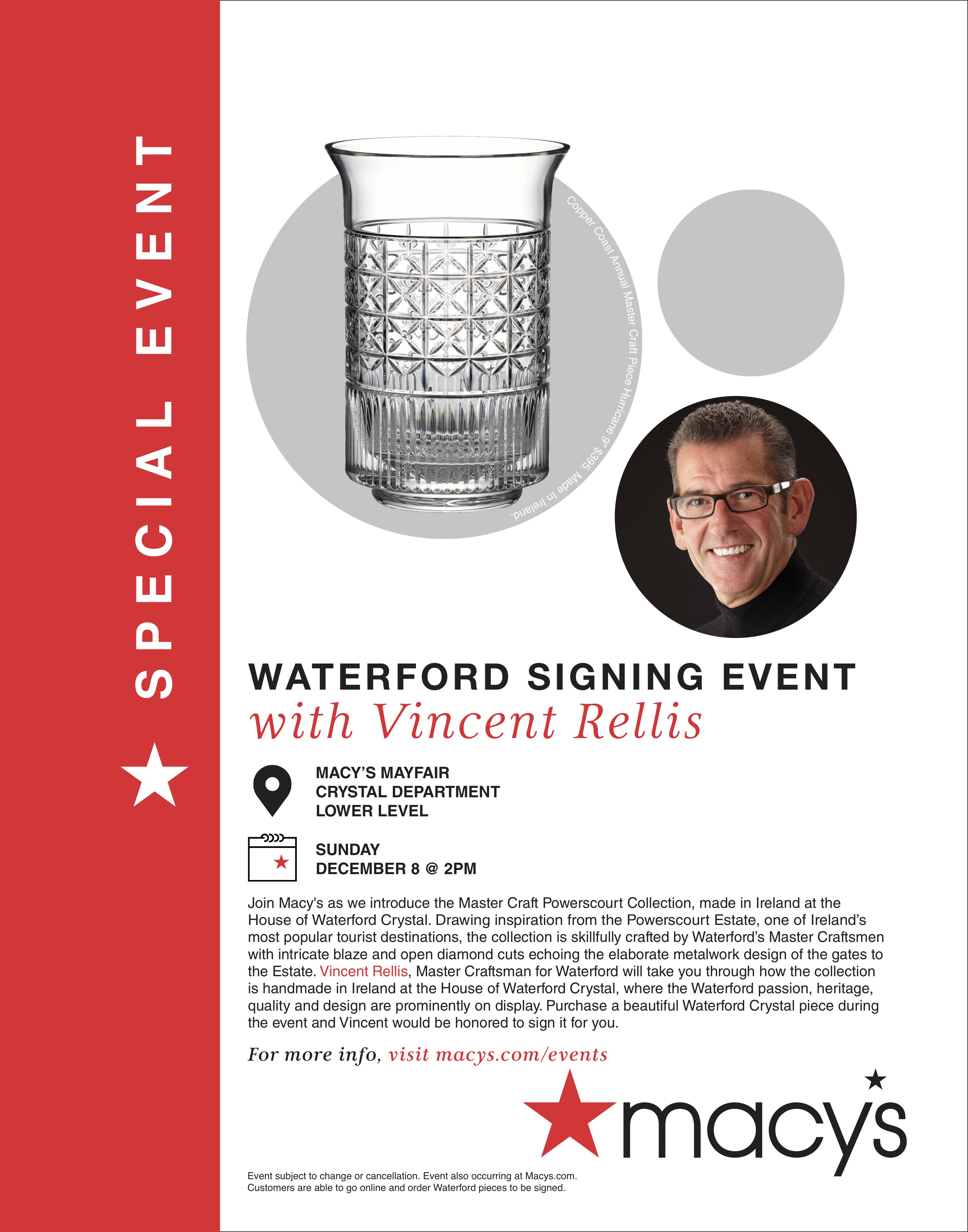 Macy's Waterford Event from macy's