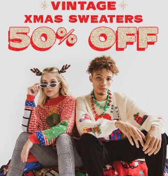 50% Off Christmas Sweaters from Ragstock