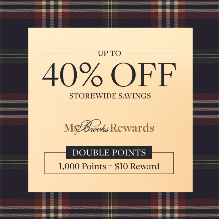 Up to 40% Off Sale from Brooks Brothers