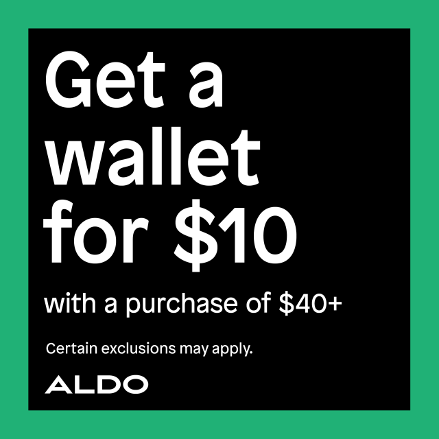 Get a wallet for $10! from ALDO