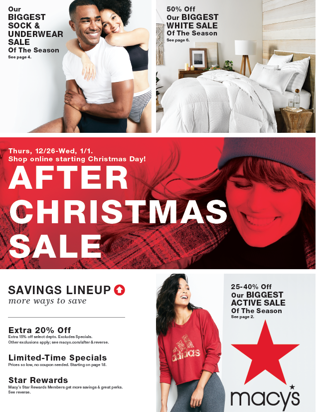 AFTER CHRISTMAS SALE from macy's