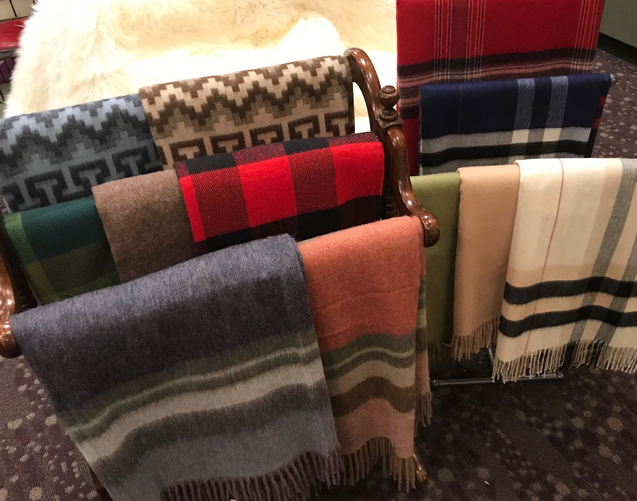 JUST IN: THE MOST COMFORTABLE THROWS ON EARTH from Sheepskin & Alpaca Specialties