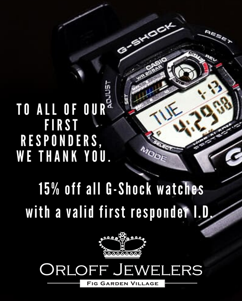Thank You Promotion to all of our First Responders from Orloff Jewelers