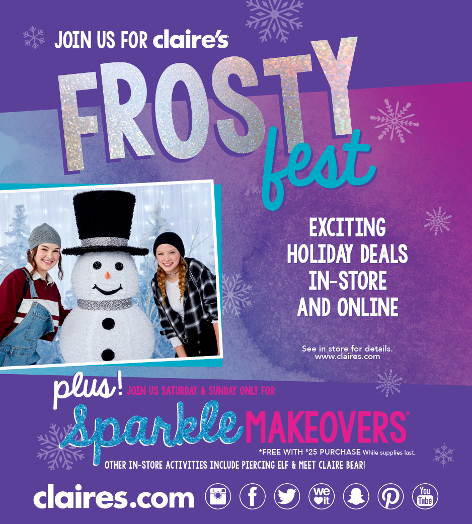 Frosty fest from Claire's