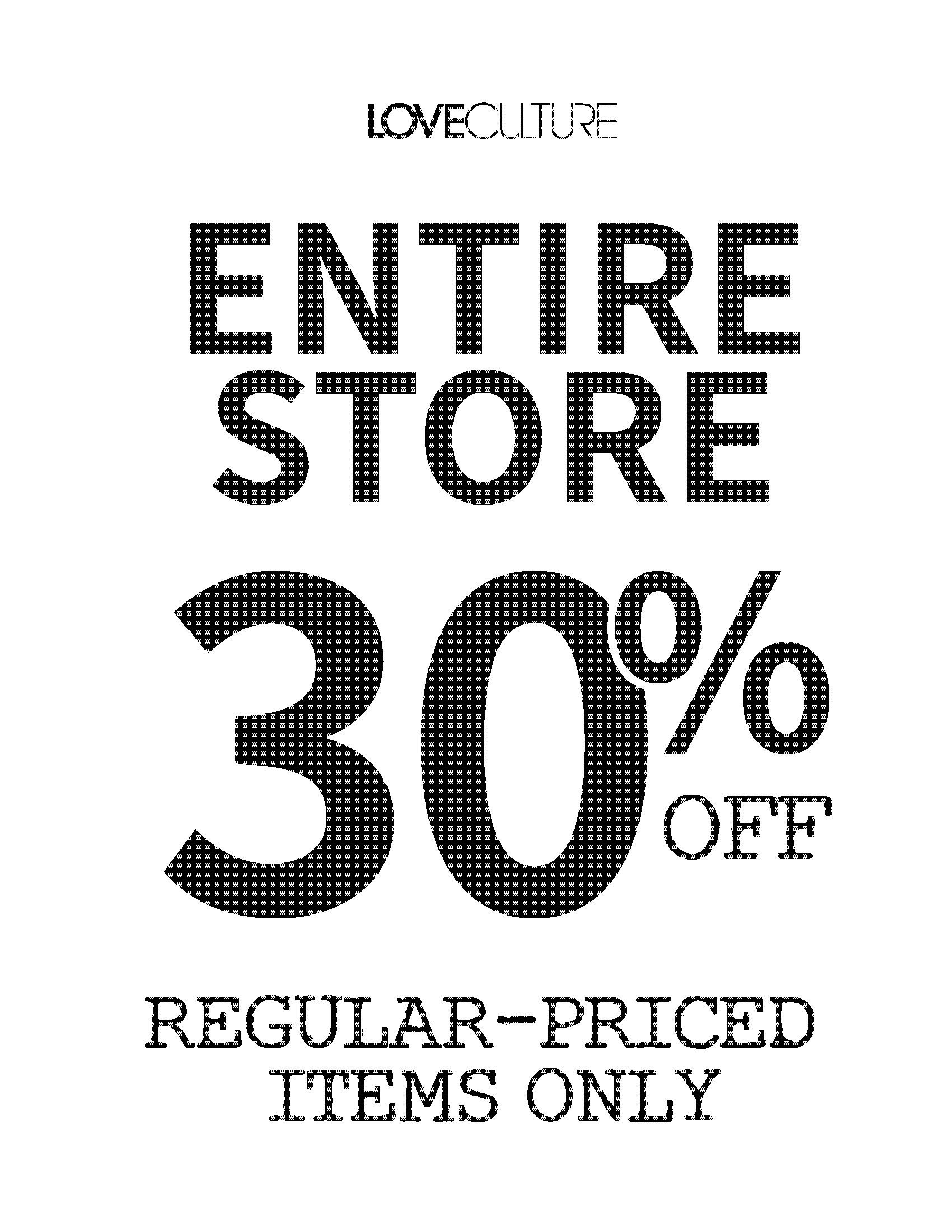 Storewide Sale from Love Culture