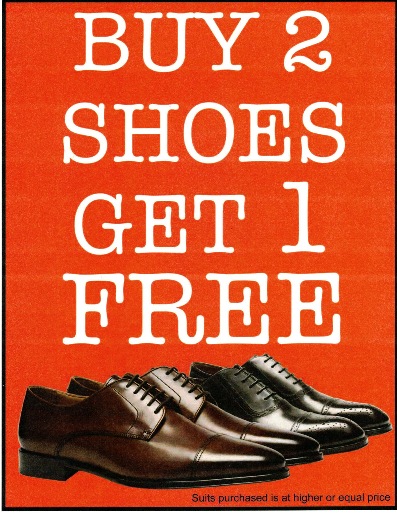 Buy 2 Shoes get 1 Free from Trendy Man