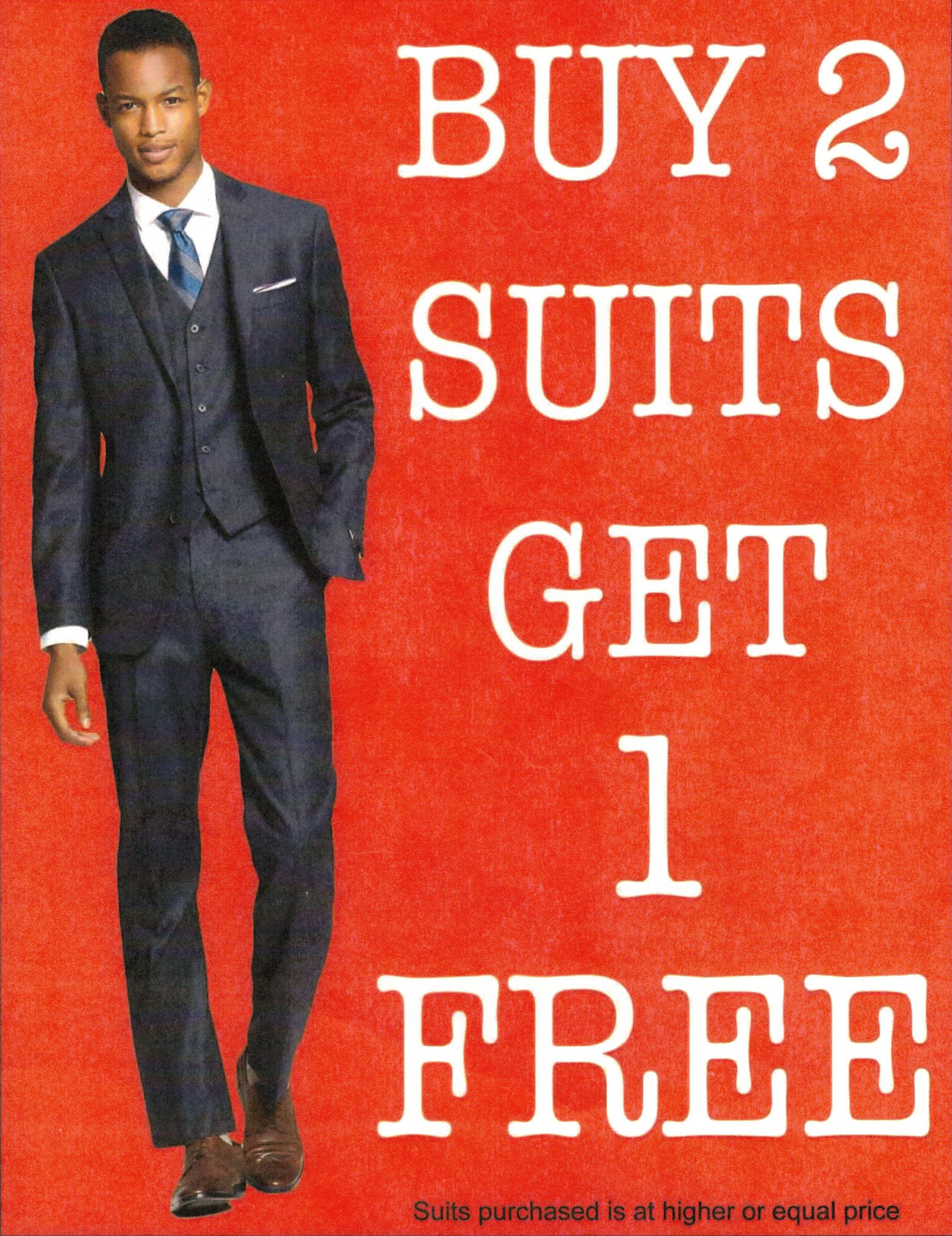 Buy 2 Suits get 1 FREE from Trendy Man