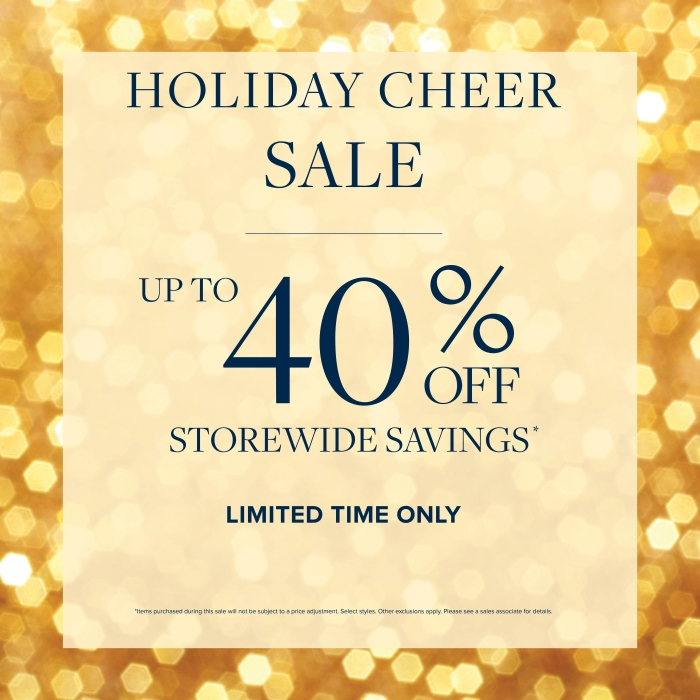 Upto 40% Off for a limited time from Brooks Brothers