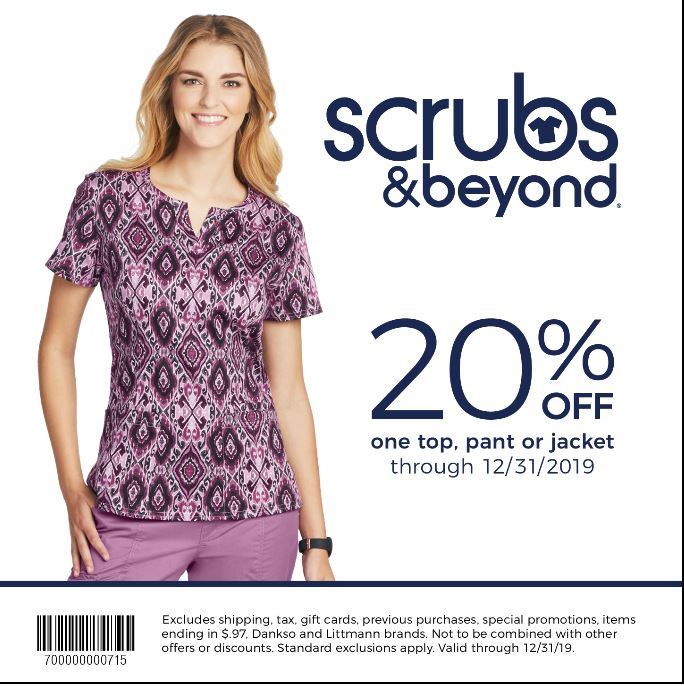 Scrubs & Beyond Winter Coupon