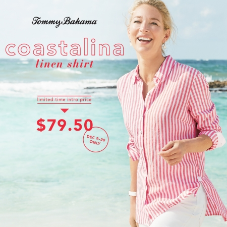 Introducing the Coastalina Linen Shirt from Tommy Bahama