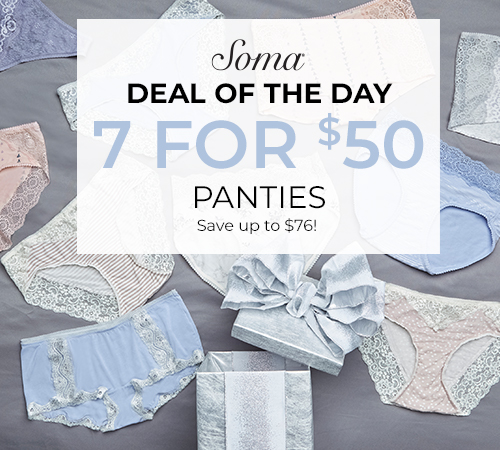 Thursday Deal of the Day from Soma Intimates