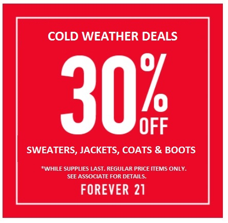 Cold Weather Deals from Forever 21